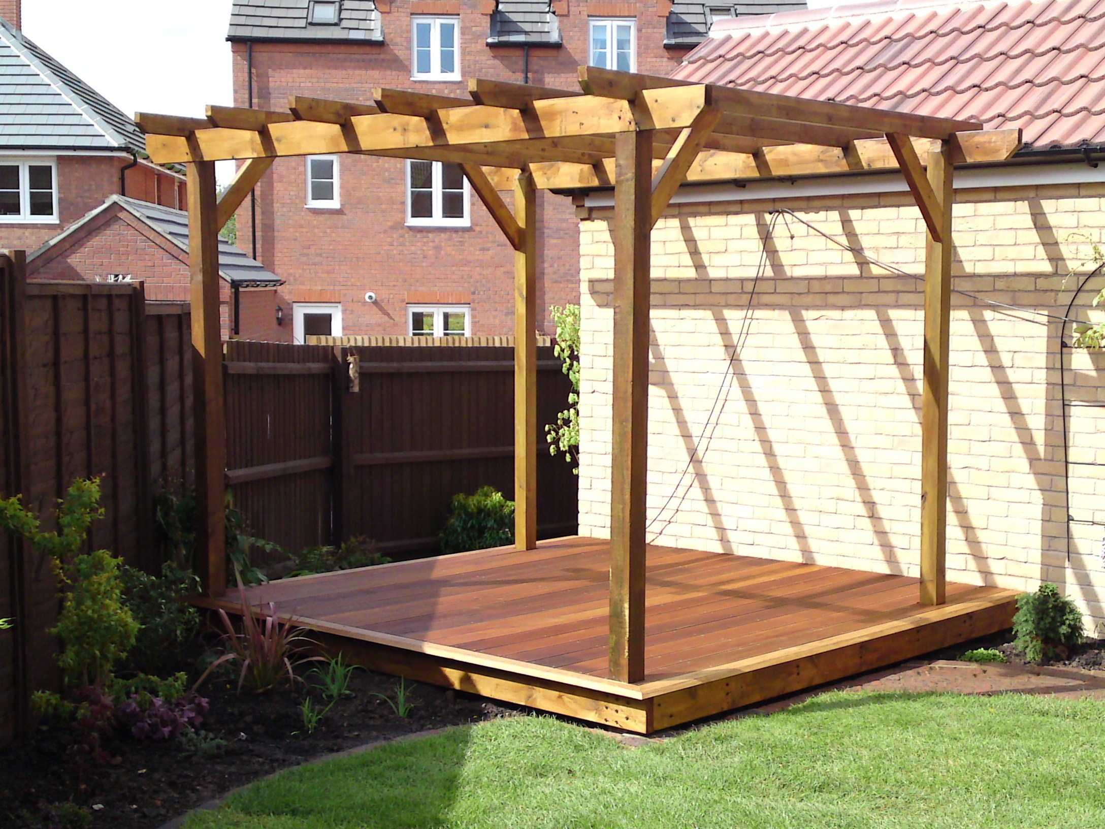 Hardwood decking by landscaper in Whittlesey Cambridgeshire