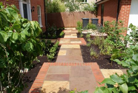Staged path design in Papworth Everard, Cambridgeshire
