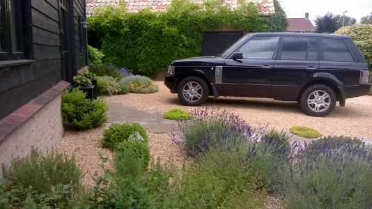 Mediterranean garden design in Boxworth, Cambridgeshire