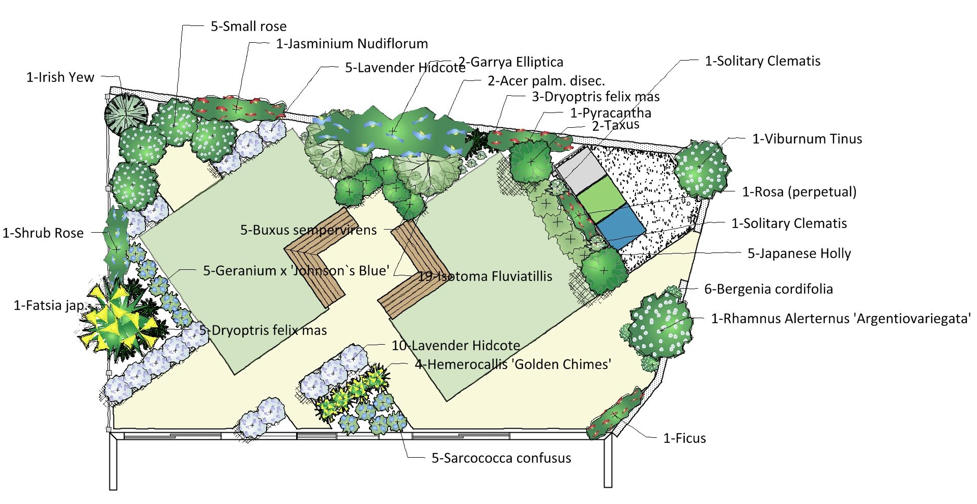 Cambridge garden design for a small garden garden design for Garden layout design