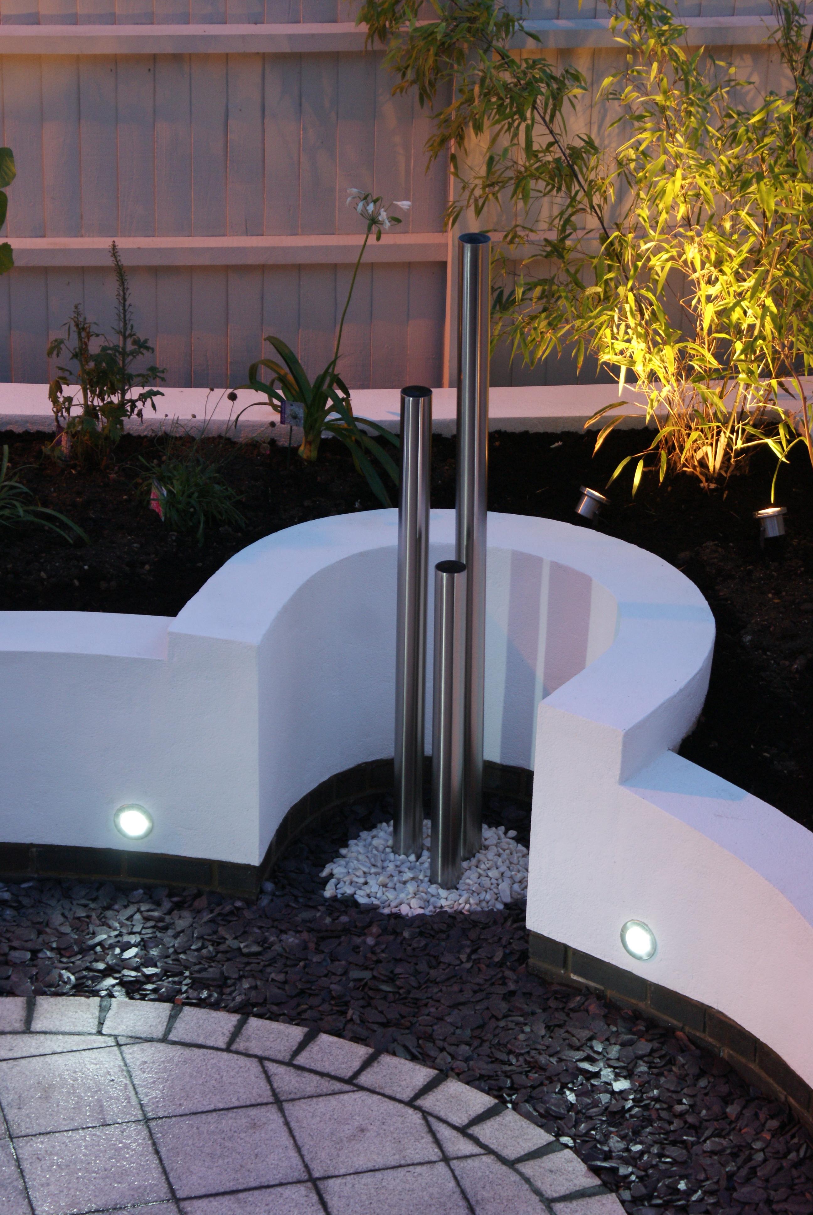 Contemporary White Garden In Peterborough Garden Design And