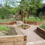 Sturdy vegetable beds