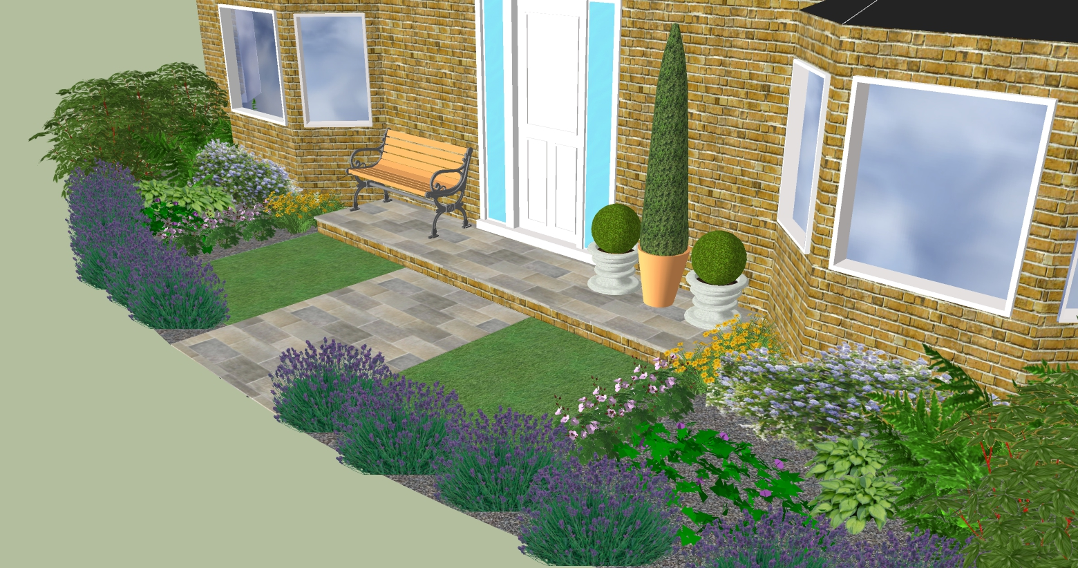 Design for a small front garden in longstanton garden for 3d garden designs