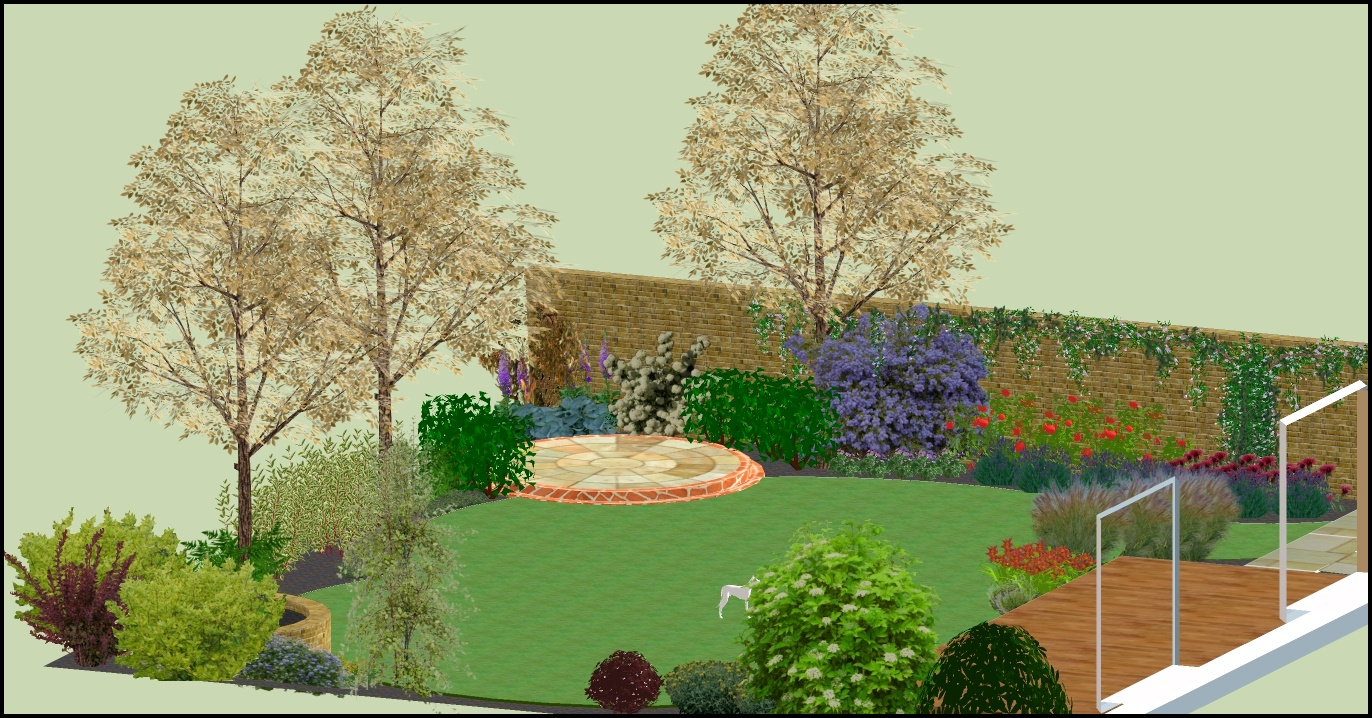 Perfect 3d Garden Design Of Formal Chinese With Pavilion Hedge