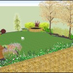 3D garden design for a home in Kings Lynn, Norfolk view 4