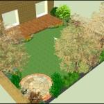 3D garden design view 1