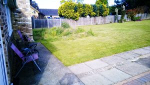 phot of Peterborough garden before landscaper