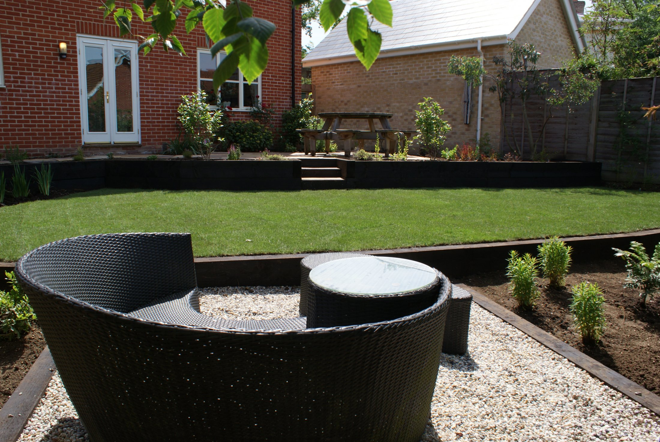 Terraced garden landscaping project
