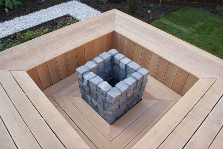 Fire pit and seating area design Stow cum quy, Cambridgeshire