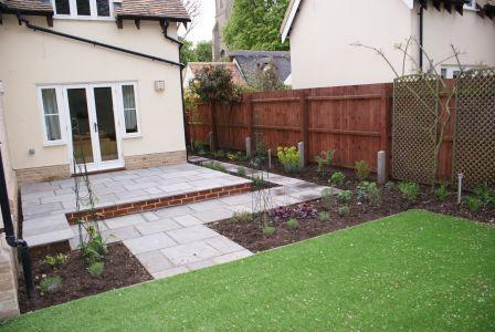 Burwell garden design by landscaper