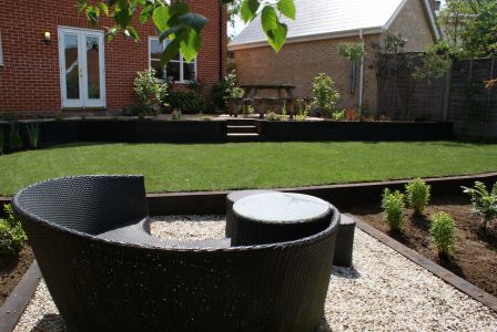 Terraced garden landscaping project